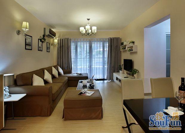 90㎡-客厅装修效果图   现已成为集家居装饰设计、家居产品设高清图片