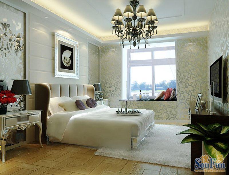 万通上游国际90平米美式装修设计效果元洲装饰庄弘治供稿-二居室-90
