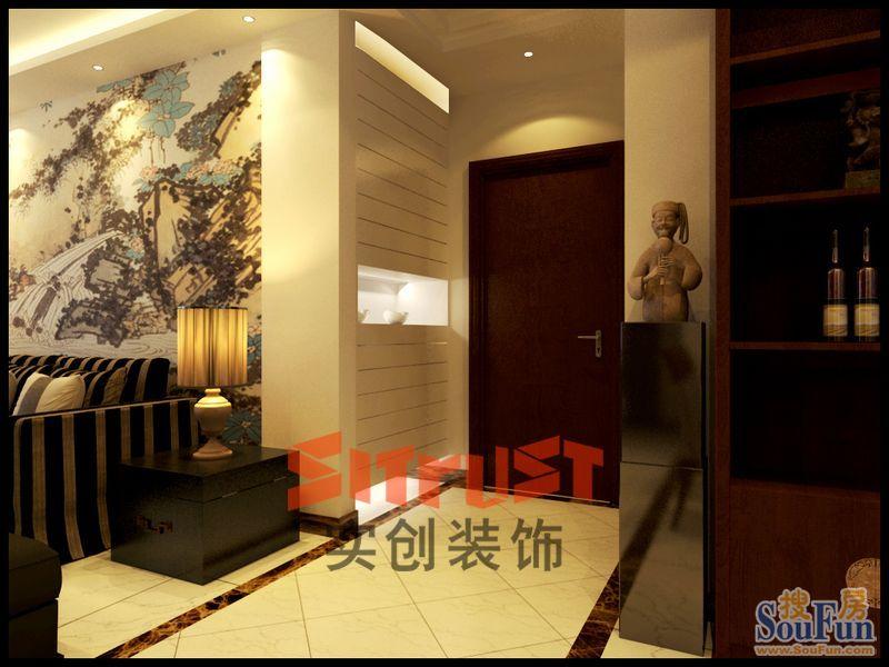 88平2室2厅 现代简约风格装修案例 预算4.14万元 高清图片