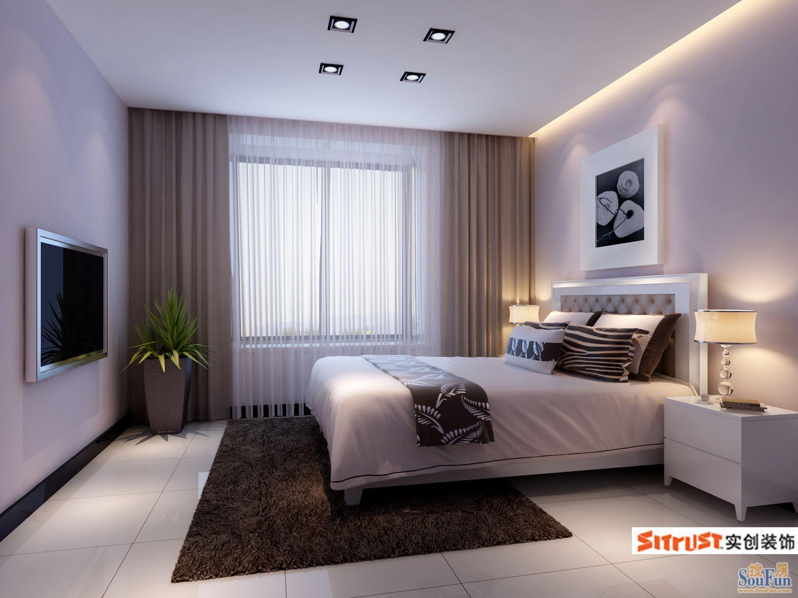 青岛金光丽园现代简约二居室装修效果图 80平米6万装修设计案例 青岛房天下家居装修网