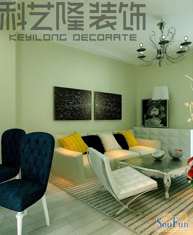 98平2室2厅 现代简约风格装修案例 预算10万元高清图片