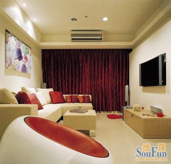 100平3室1厅 现代简约风格装修案例 预算7万元