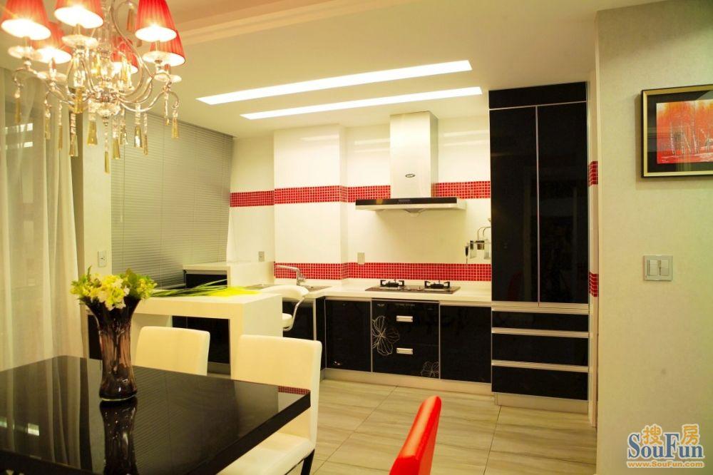 98平2室2厅 现代简约风格装修案例 预算7万元高清图片