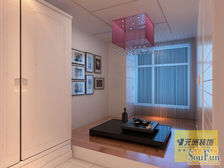 88平2室2厅 现代简约风格装修案例 预算3.8万元 高清图片