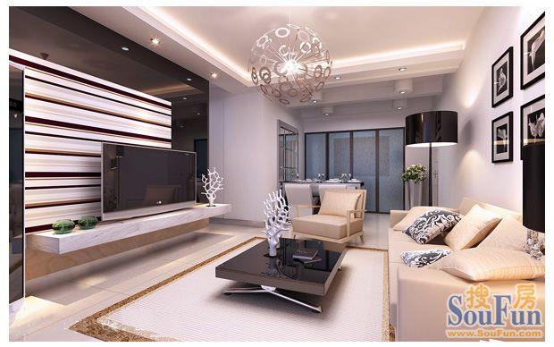 107平3室2厅 混合型风格风格装修案例 预算6.43万元 高清图片