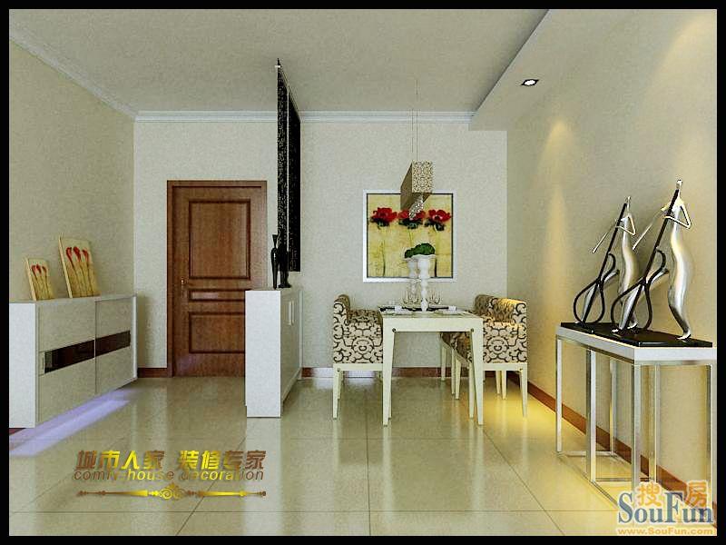 88平2室2厅 现代简约风格装修案例 预算3万元高清图片