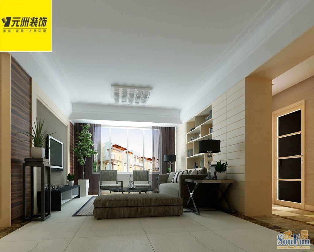 110平3室2厅 现代简约风格装修案例 预算6万元高清图片