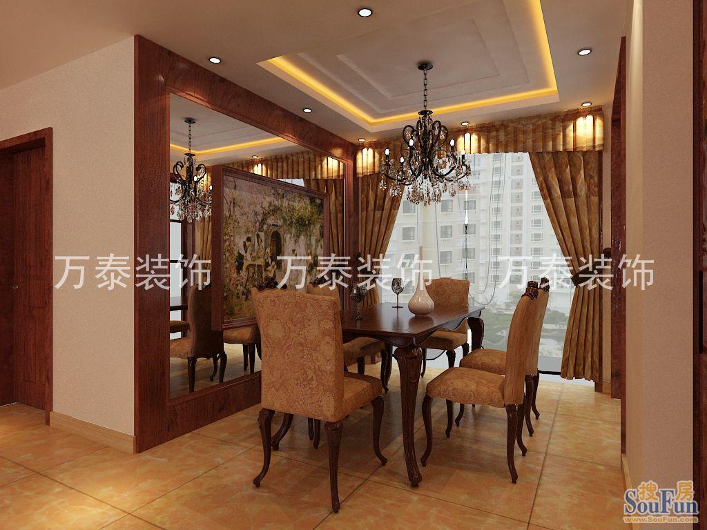 商铺-四居室-160㎡-餐厅装修效果图-160平4室2厅 西式古典风格装修高清图片