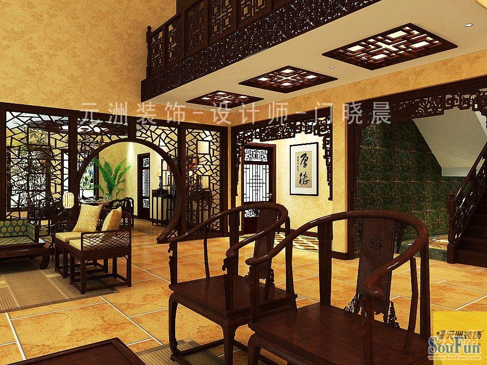 530平7室1厅 中式古典风格装修案例 预算36万元