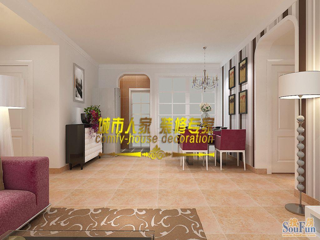 二居室-90㎡-餐厅装修效果图-90平2室2厅 现代简约风格装修案例 预高清图片