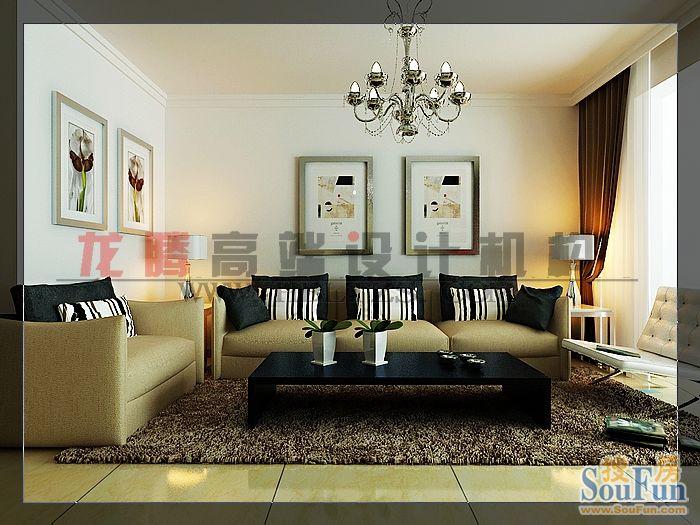 88平2室2厅 现代简约风格装修案例 预算2.4万元 高清图片
