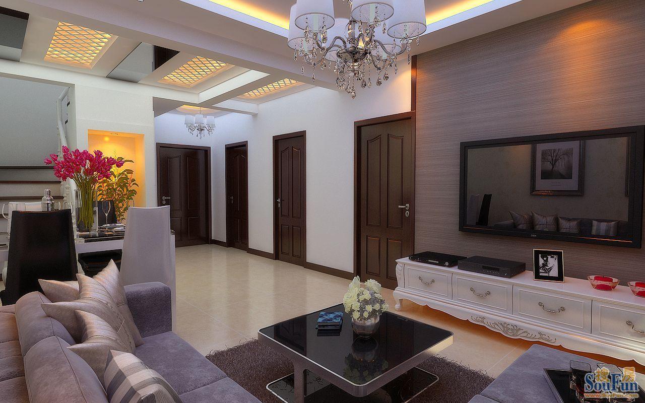 88平3室3厅 现代简约风格装修案例 预算5万元高清图片