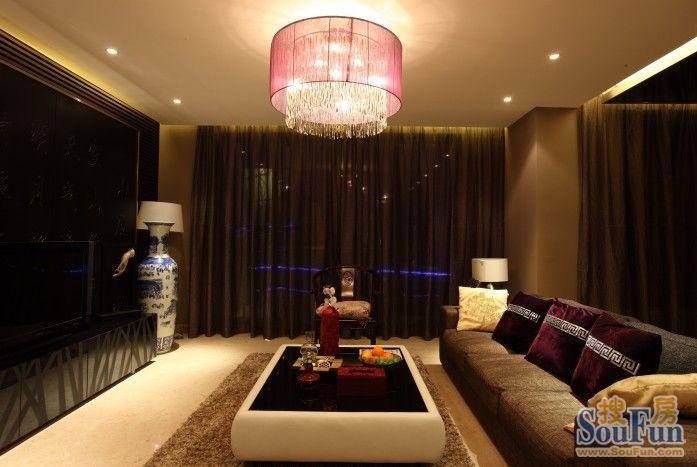 98平2室1厅 现代简约风格装修案例 预算9万元高清图片