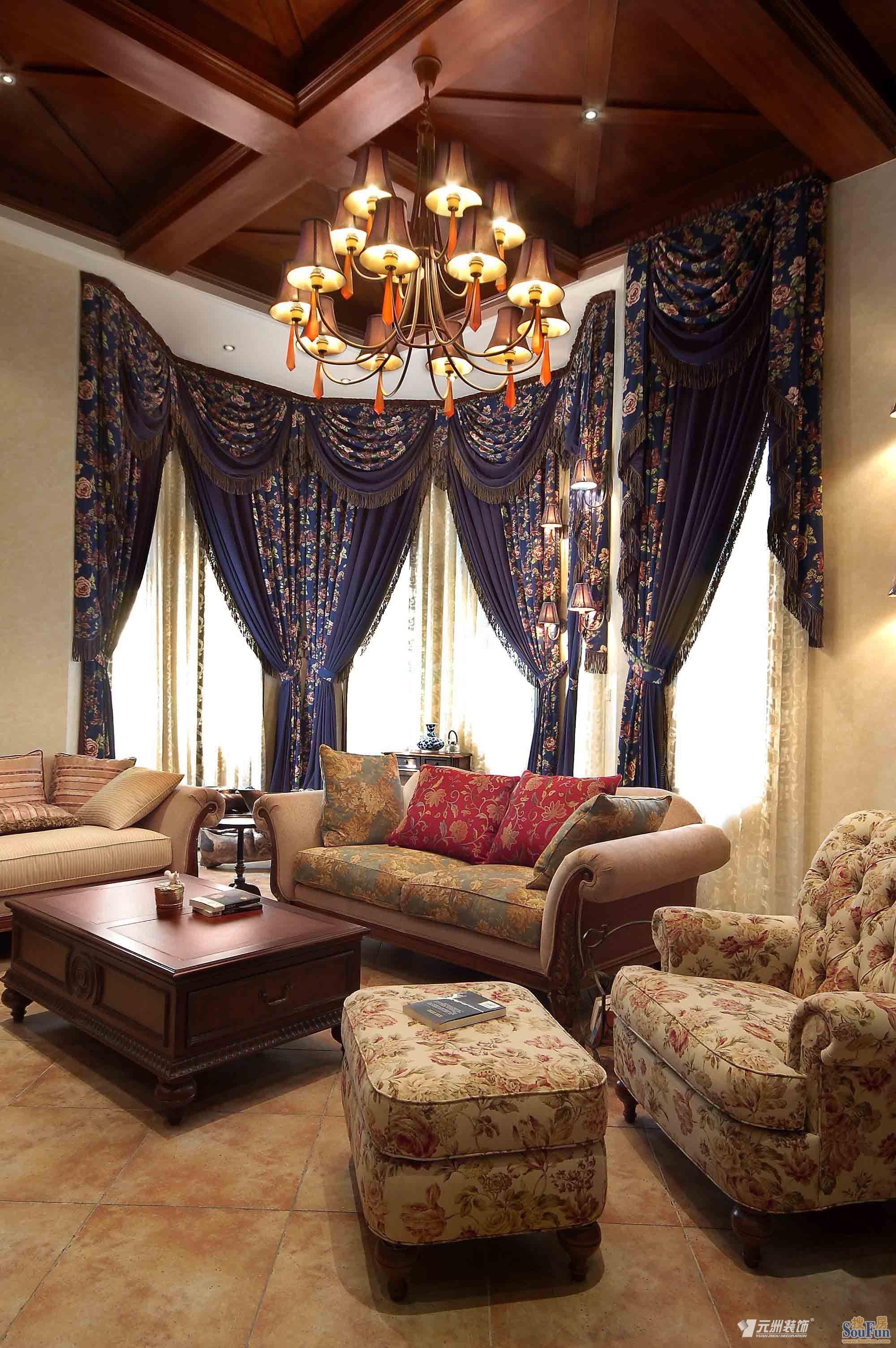 中海安德鲁斯庄园-中式古典-别墅-看装修案例-家天下图片
