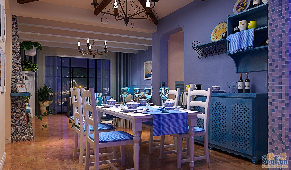 新城-四居室-160㎡-餐厅装修效果图-160平4室2厅 风格装修案例 预算高清图片