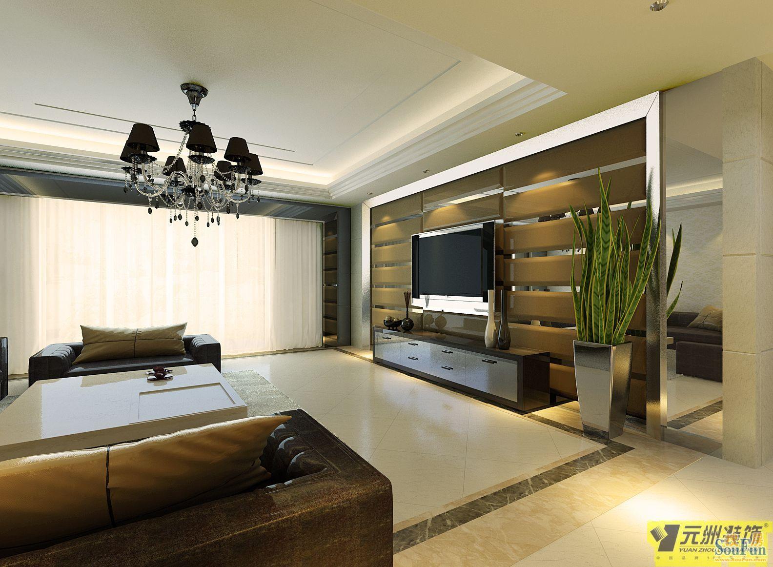 130平3室1厅 现代简约风格装修案例 预算20万元 高清图片