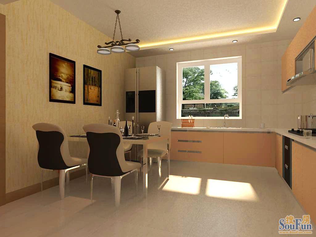 93平2室1厅 现代简约风格装修案例 预算5.6万元高清图片