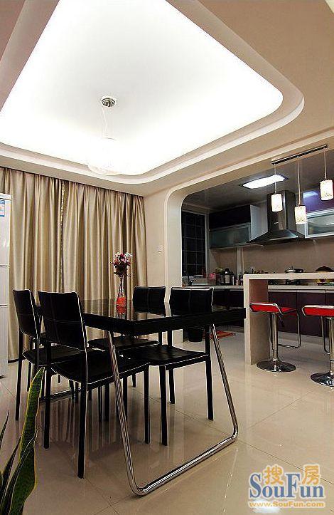 宁发阳光花园-二居室-185㎡-客厅装修效果图-185平2室2厅 现代简约风