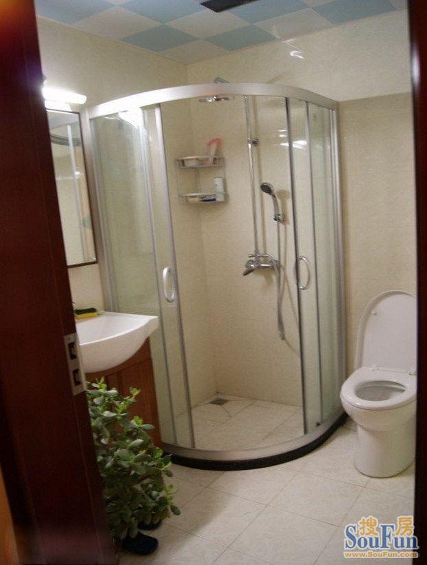 宁发阳光花园-二居室-185㎡-卫生间装修效果图-185平2室2厅 现代简约