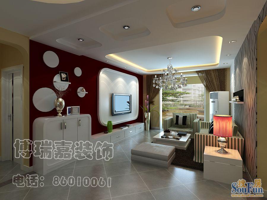 88平2室2厅 现代简约风格装修案例 预算6万元 高清图片