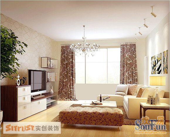 80平2室1厅 现代简约风格装修案例 预算5.12万元高清图片