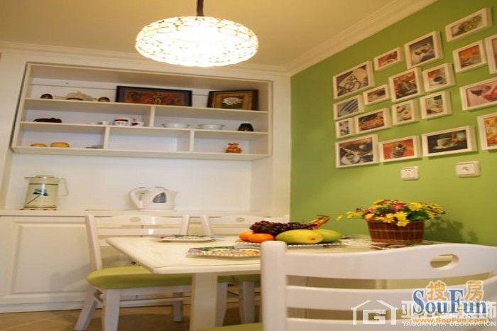 98平2室1厅 田园风格风格装修案例 预算4万元高清图片
