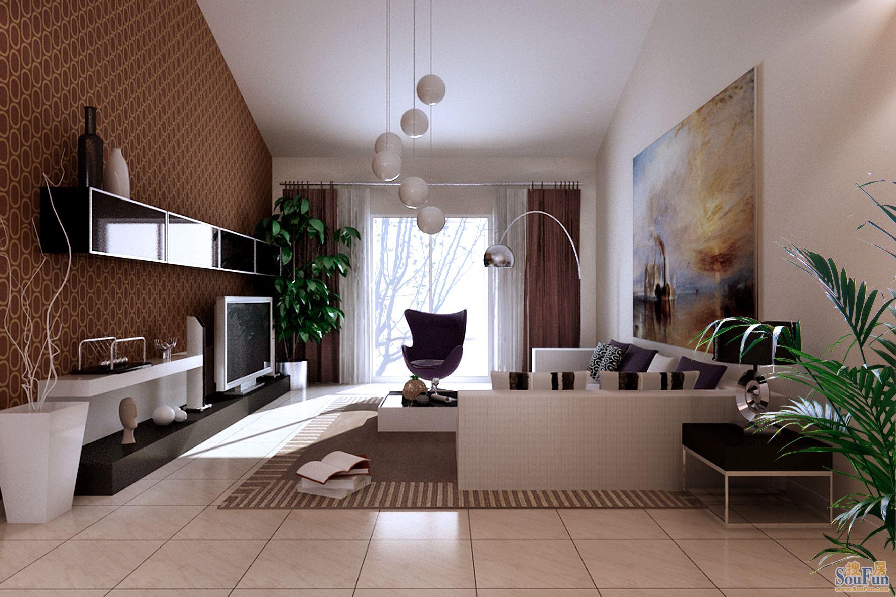 西山华府-三居室-135㎡-卧室装修效果图   西山华府-三居室-高清图片