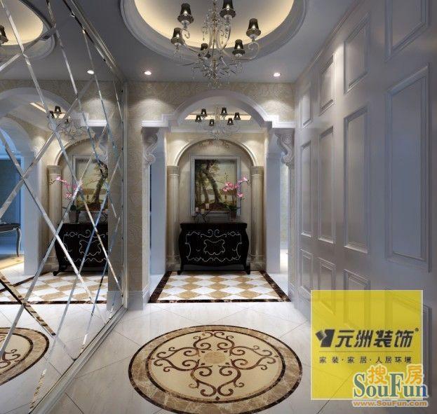 98平2室1厅 风格装修案例 预算15万元高清图片