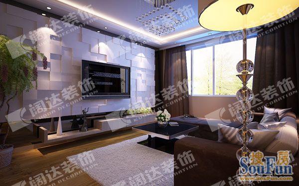 上海绿岛印象中式古典三居室装修效果图_120平米15万图片