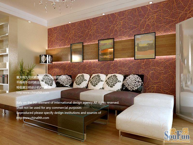 98平2室1厅 现代简约风格装修案例 预算3.2万元高清图片