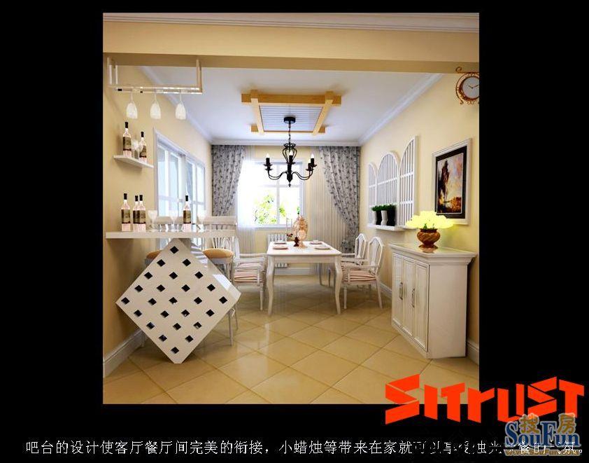 98平2室2厅 田园风格风格装修案例 预算5.01万元高清图片