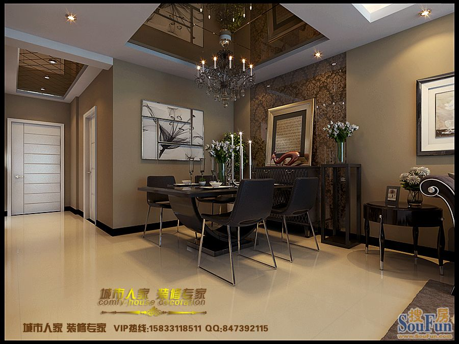 93平2室2厅 现代简约风格装修案例 预算8万元高清图片