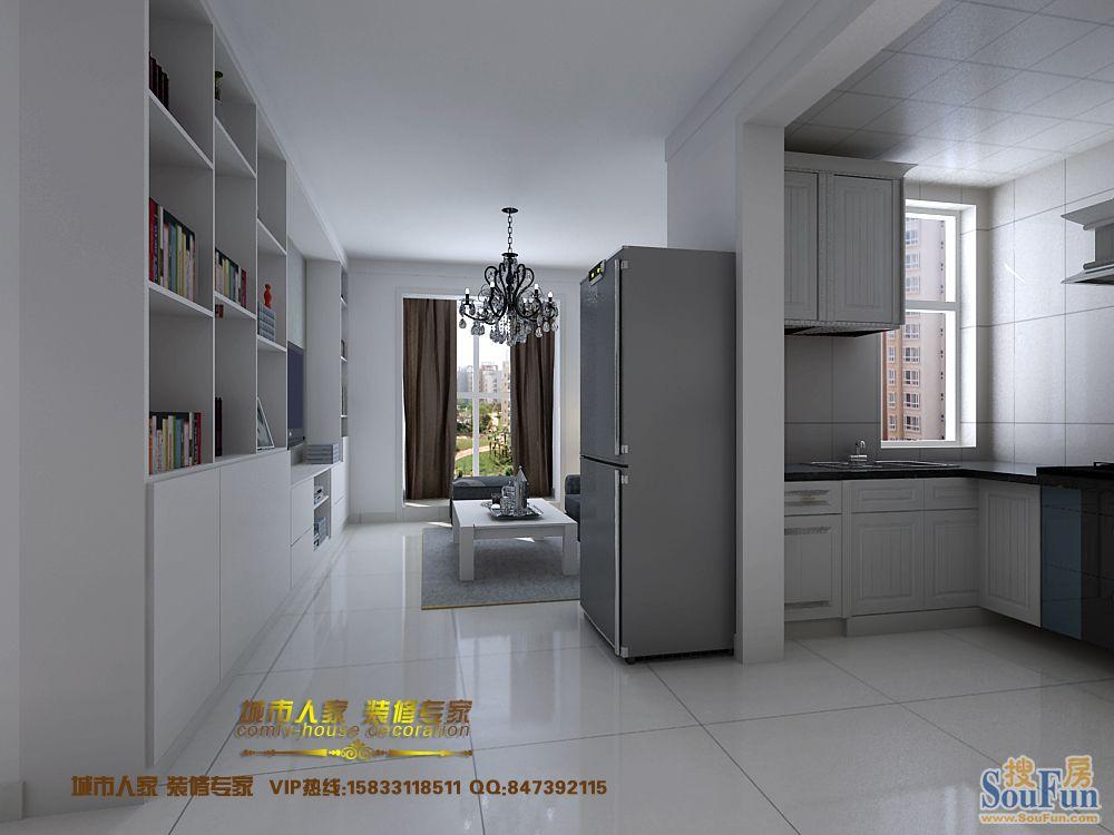 96平2室2厅 现代简约风格装修案例 预算8万元 高清图片
