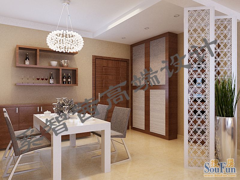 88平2室2厅 现代简约风格装修案例 预算3.5万元高清图片