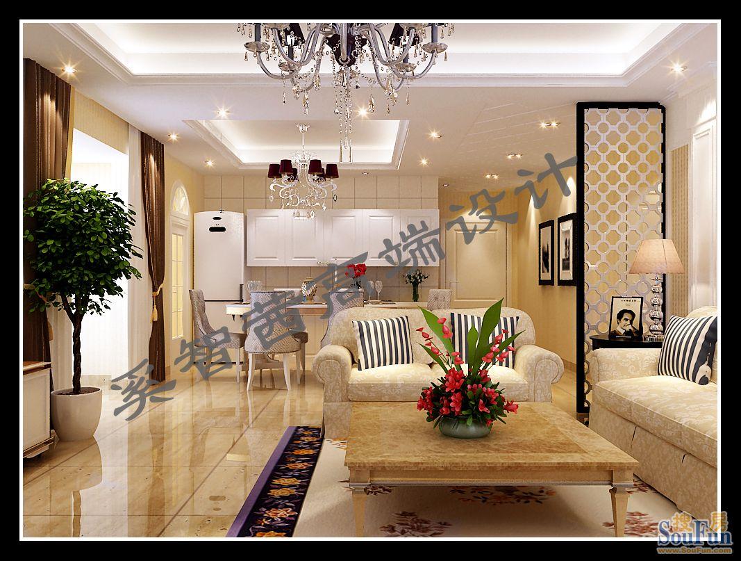 西美五洲天地-三居室-160㎡-客厅装修效果图