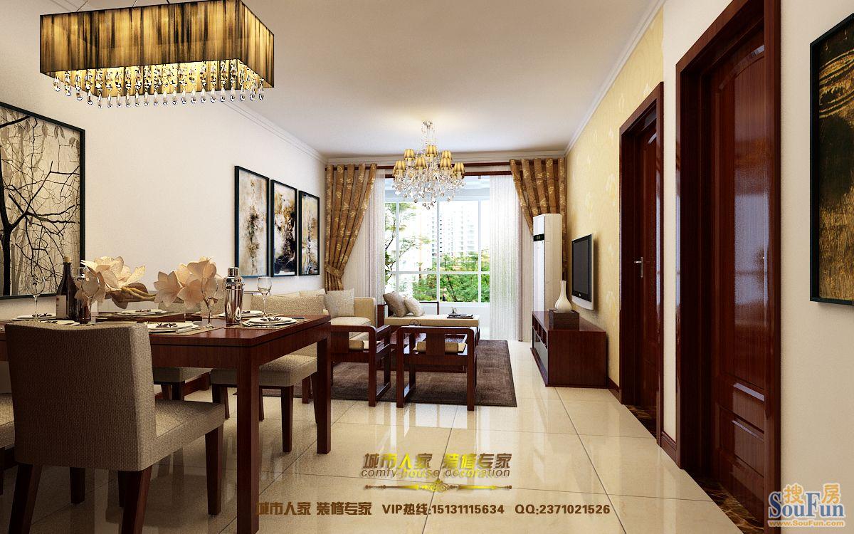 93平2室2厅 现代简约风格装修案例 预算3.5万元高清图片