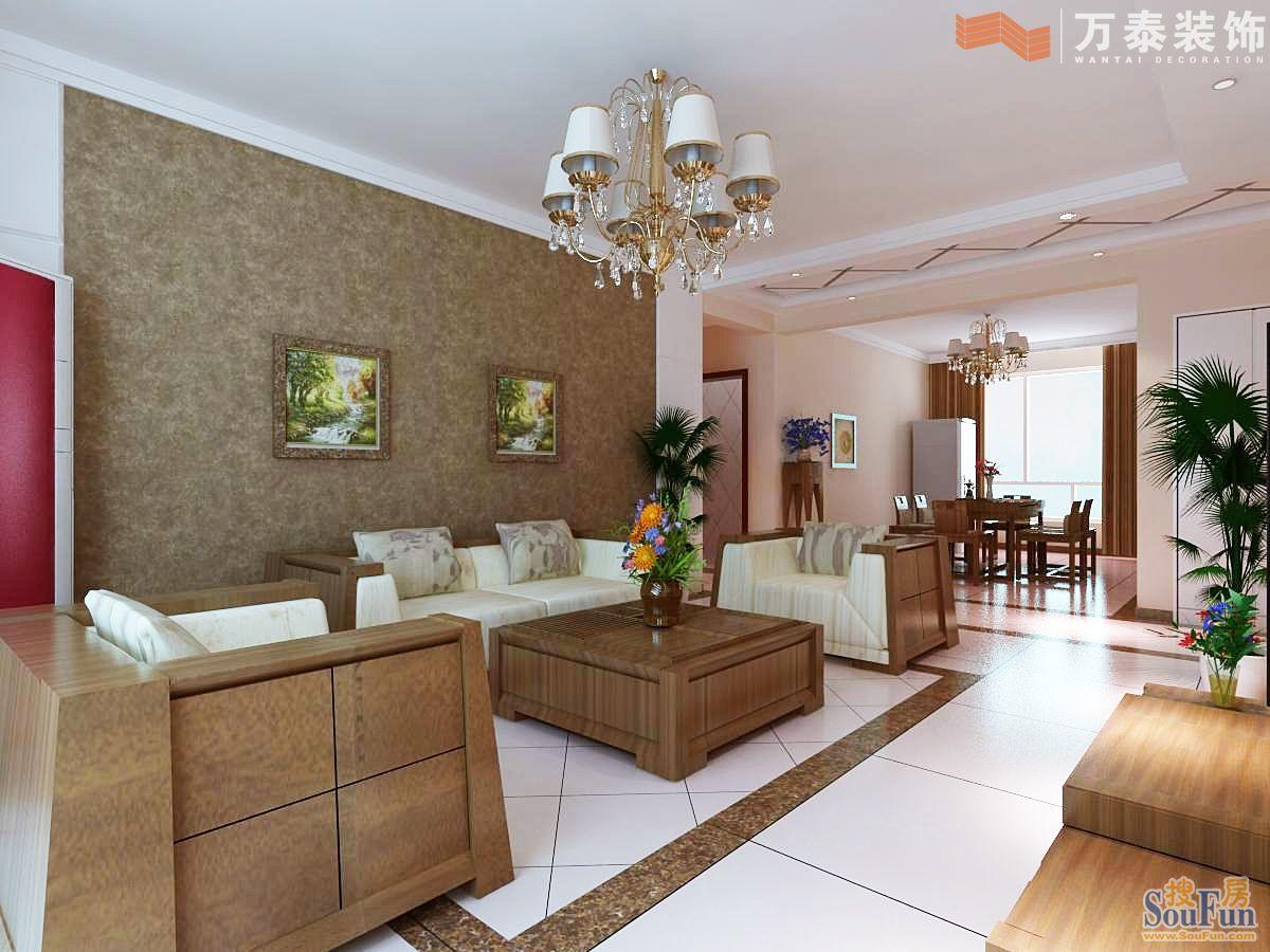 139平3室2厅 现代简约风格装修案例 预算3.1万元 高清图片
