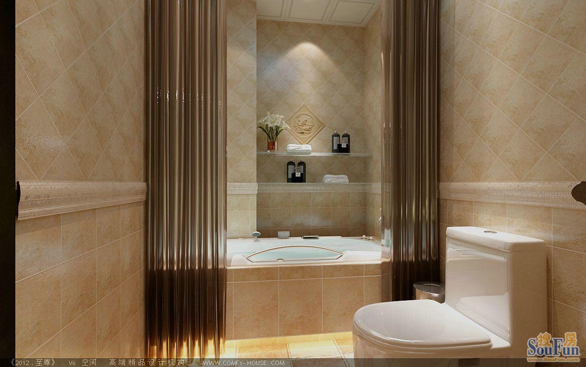 98平2室1厅 欧美风情风格装修案例 预算6.6万元高清图片
