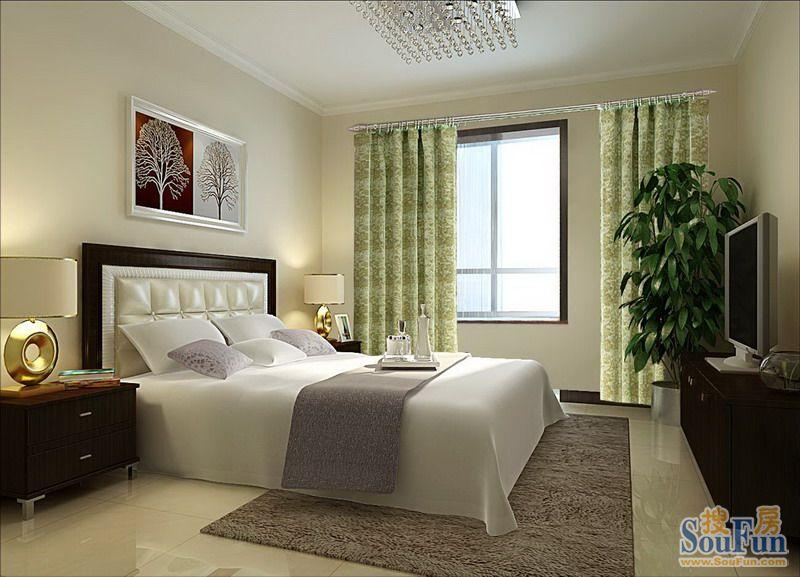 90平3室1厅 现代简约风格装修案例 预算5.6万元 高清图片