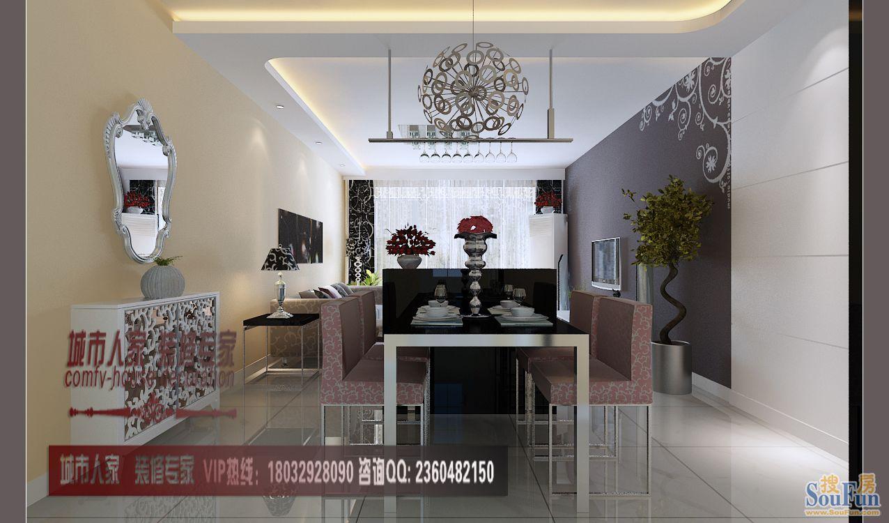 88平2室2厅 现代简约风格装修案例 预算5.8万元高清图片