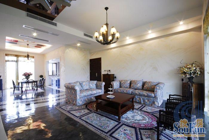 混搭风格三居室200平米10万 远洋万和城商铺装修案例 南通房天下家居装修网