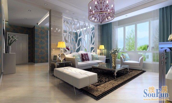 80平2室1厅 现代简约风格装修案例 预算3万元高清图片