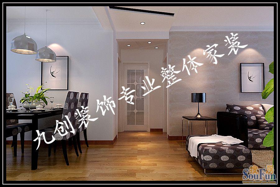 0㎡-厨房装修效果图-100平2室1厅 现代简约风格装修案例 预算4.5万元高清图片