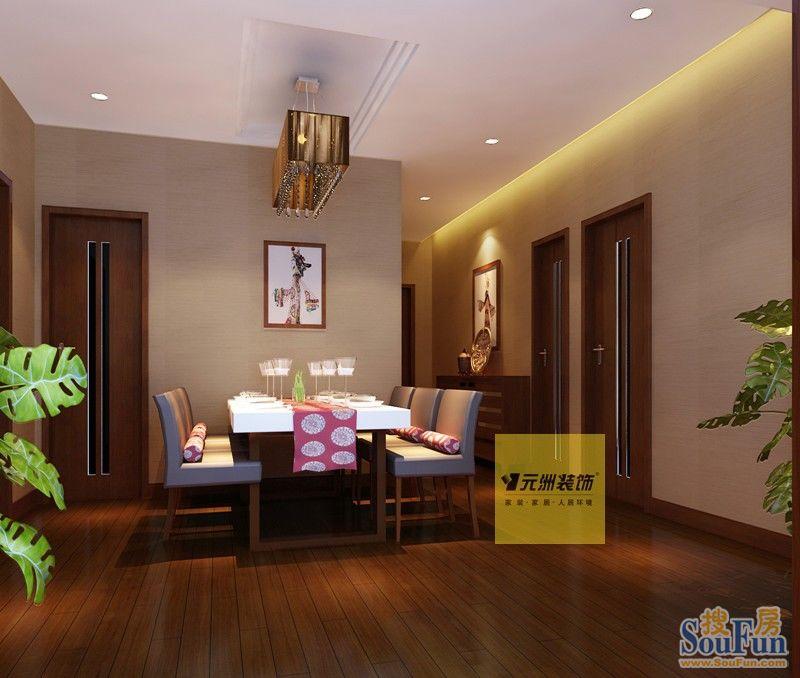 98平2室1厅 中式古典风格装修案例 预算3万元高清图片
