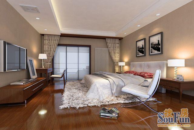 98平2室1厅 现代简约风格装修案例 预算10万元高清图片
