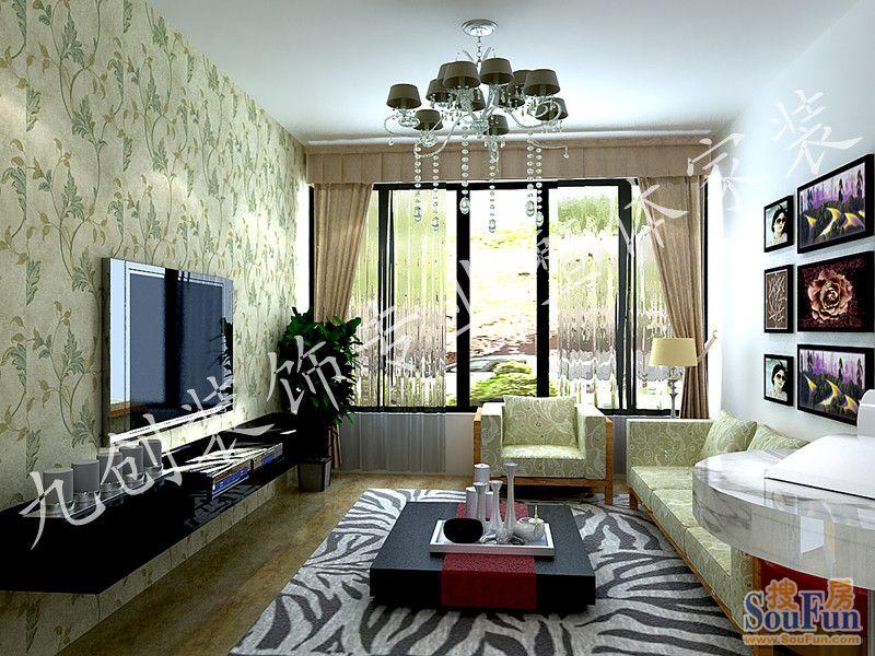 盛世名门-二居室-104㎡-厨房装修效果图-104平2室2厅 田园风格风格装高清图片