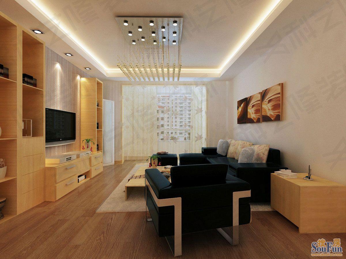 88平2室2厅 现代简约风格装修案例 预算2.5万元 高清图片