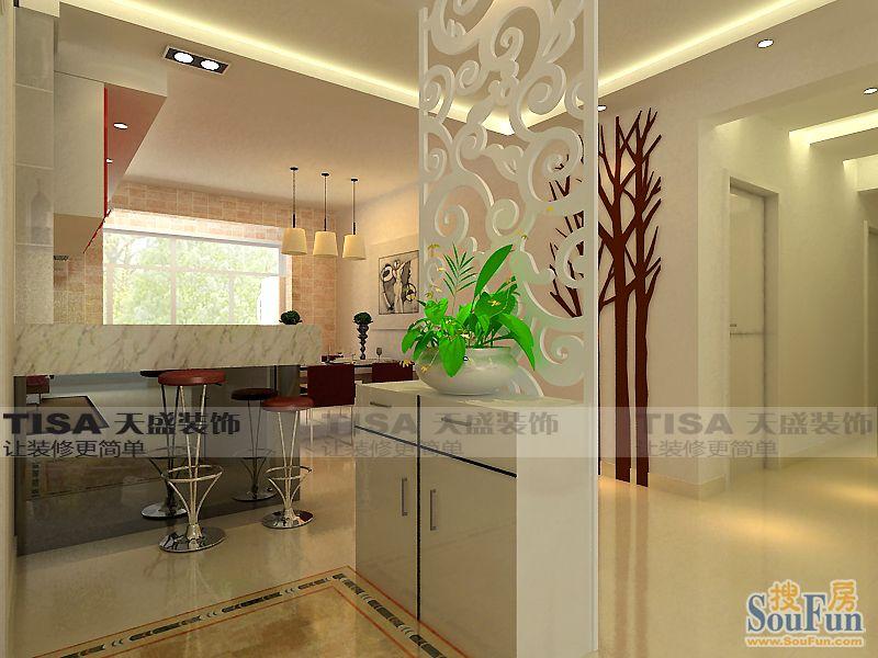 85平2室1厅 现代简约风格装修案例 预算5万元高清图片