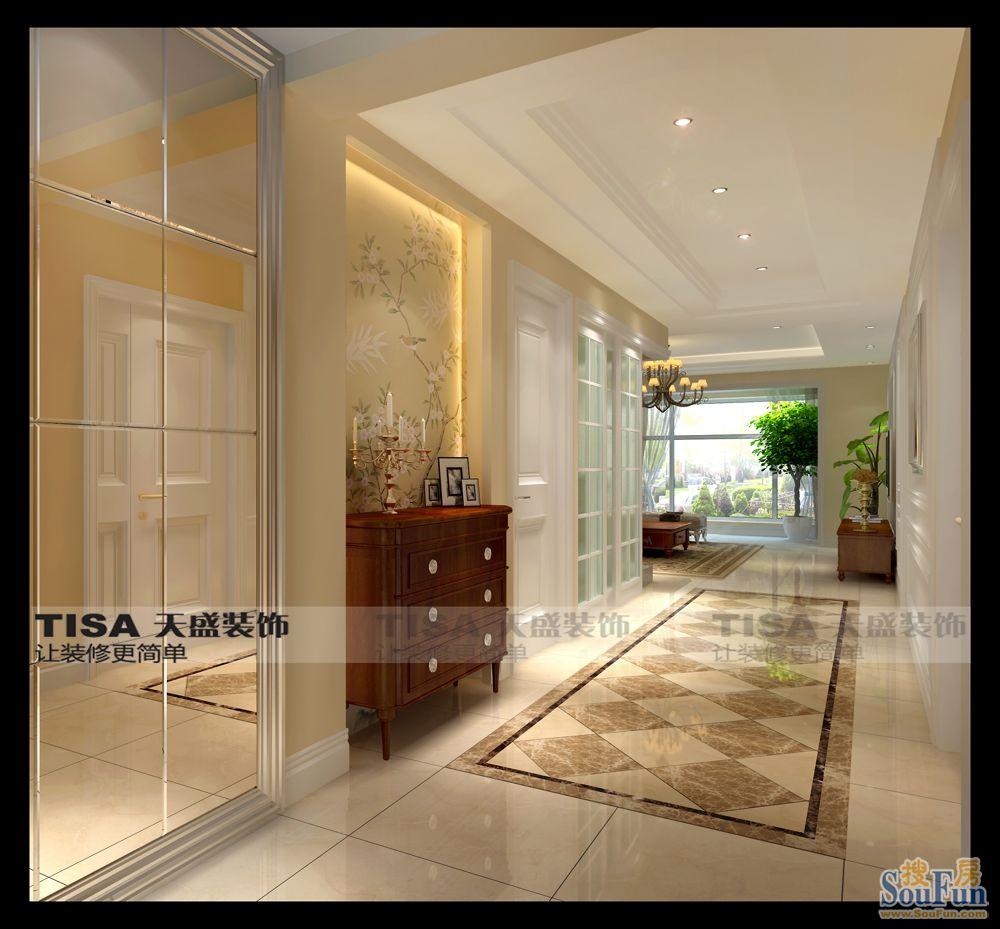 98平2室1厅 西式古典风格装修案例 预算6.6万元高清图片
