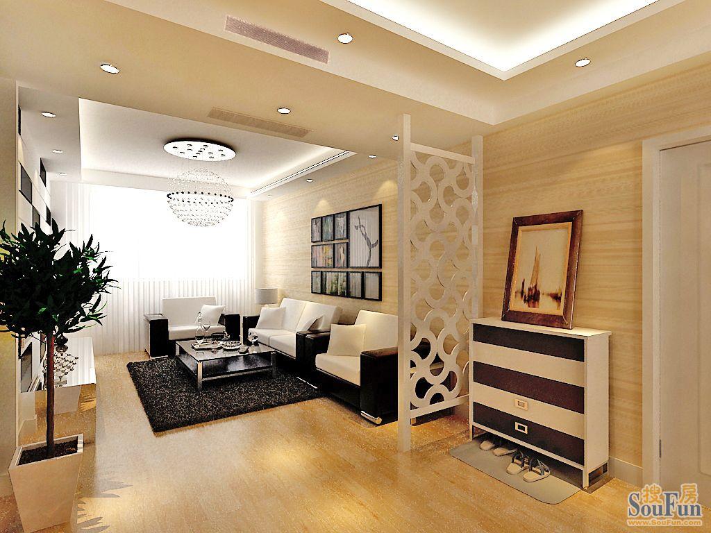 ...景仿木纹的浅色壁纸增加了整个空间的灵动性.黑与白的对比